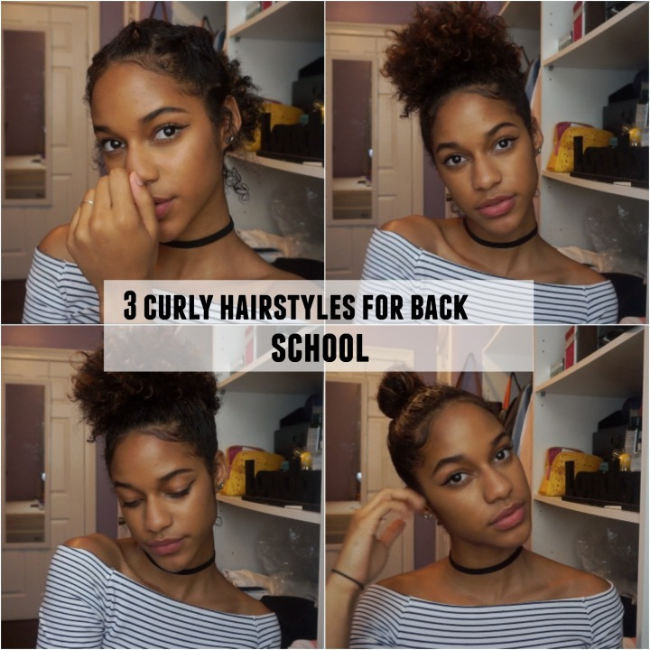 3 Curly Hair Styles For Back To School Melodyslife