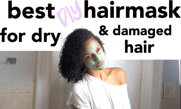 DIY HAIR MASK FOR DAMAGED AND DRY HAIR! (VIDEO)