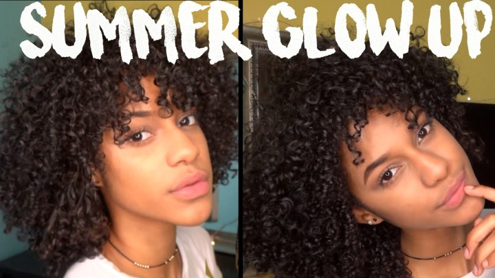 My Summer Makeup Routine & How To Refresh Old Curls! (VIDEO)