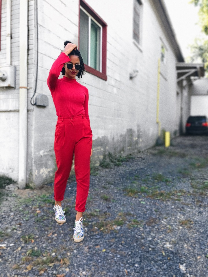 STREET STYLE RED MONOCHROMATIC | OOTD