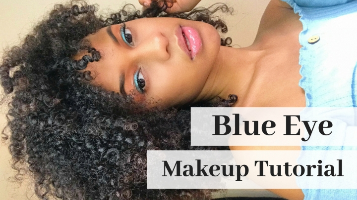 Makeup Tutorial: Blue Eyeshadow (EASY)